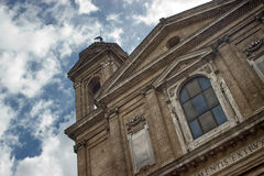 Drama church. This church was captured in Rome, ITALY, in via del Babuino Royalty Free Stock Images