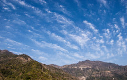 Drama of Clouds over the Himalayas Royalty Free Stock Photo