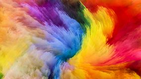 Realms of Digital Paint Stock Photo