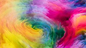 Vision of Digital Paint Stock Photography