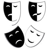Drama and comedy masks Royalty Free Stock Photos