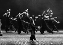 Drama de la danza de la máscara- del cráneo la leyenda de los héroes del cóndor Imagen de archivo libre de regalías