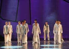 Drama de la danza de Tai Chi Kung Fu-The la leyenda de los héroes del cóndor Imagen de archivo