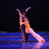 Drama de la danza del amor- del vuelo la leyenda de los héroes del cóndor Fotografía de archivo libre de regalías