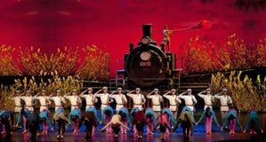Drama de la danza del chino: Guerrillas ferroviarios Fotografía de archivo libre de regalías
