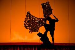 Drama do fantoche da sombra, Tailândia Fotos de Stock Royalty Free