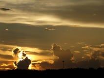 Drama en el cielo Imagenes de archivo
