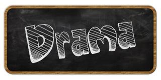 DRAMA escrito en tiza en la pizarra Marco de madera libre illustration