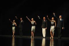 Drama estrelando da dança do chamada-tango da cortina Imagens de Stock Royalty Free