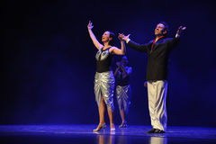 Drama estrelando da dança do chamada-tango da cortina Fotos de Stock