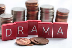 Drama on the financial market Royalty Free Stock Images