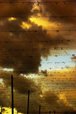 Drama im Himmel stockfotos
