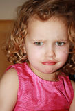 Drama Queen. Little angry drama queen girl Royalty Free Stock Photography