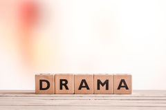 Drama sign on a table Stock Photos