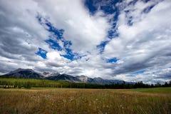 Drama in the Skies. Dramatic skies in the Lake Minnewanka region of Banff National Park Royalty Free Stock Image