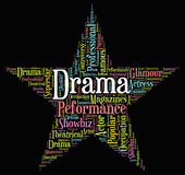 Drama Star Represents Stage Theaters And Melodramas Royalty Free Stock Images