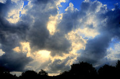 Drama sun ray with cloud Royalty Free Stock Image