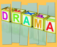 Drama Word Show Roleplay Theatre Or Production Royalty Free Stock Photography