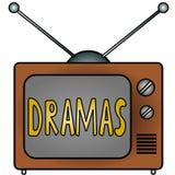 Dramas de la TV Imagen de archivo libre de regalías