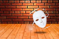 dramat maskerar white Royaltyfri Foto
