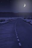 dramat nocy malownicza droga kołysa niebo Zdjęcia Royalty Free