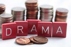dramata rynek finansowy Obrazy Royalty Free