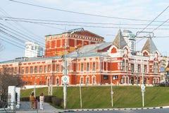 Dramata teatr w mieście Samara Zdjęcia Royalty Free