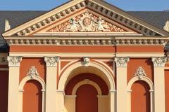 Dramateater i klaipeda i Litauen på ferie royaltyfri bild