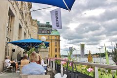 DramatenTerassen, Estocolmo Fotografía de archivo