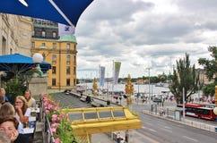DramatenTerassen, Estocolmo Imágenes de archivo libres de regalías