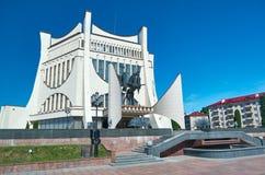 Dramatheater in Grodno, Wit-Rusland stock foto's
