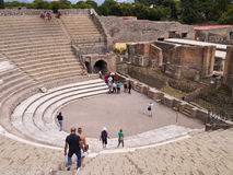 Dramatheater in Pompei Italië Royalty-vrije Stock Foto's