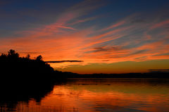 Dramatic Adirondack sunset Stock Images