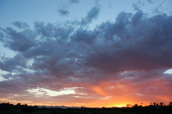 Dramatic African sky Royalty Free Stock Images