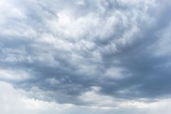 Dramatic African sky with shades of blue. Nature Royalty Free Stock Photography