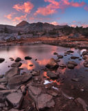 Dramatic Alpenglow at North Peak royalty free stock photography