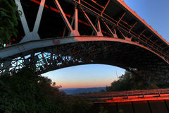 Dramatic angle of a bridge Royalty Free Stock Photography