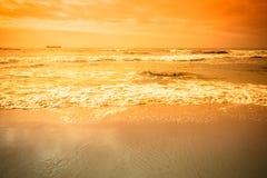 Dramatic Atlantic coast at low tide. Tinted Stock Photos
