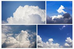 Dramatic atmosphere of freshness blue sky and clouds backgrounds Stock Image