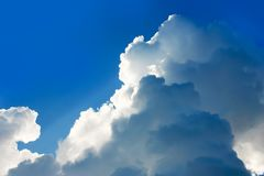 Dramatic atmosphere panorama view of blue sky. Royalty Free Stock Photos