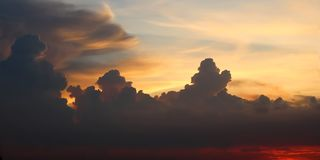Dramatic atmosphere view of beautiful  twilight sky. Royalty Free Stock Photography