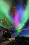 Dramatic aurora Stock Image