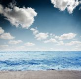 Dramatic beach Royalty Free Stock Images
