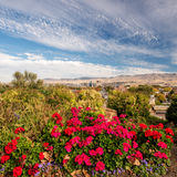 Dramatic and beautifal view of Boise Idaho Royalty Free Stock Image