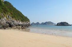 Dramatic beautiflu island beach stock photography