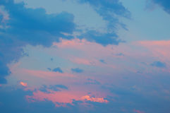 Dramatic and Beautiful Sky View After Sunset Stock Photography