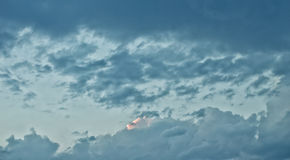 Dramatic and Beautiful Sky View After Sunset Royalty Free Stock Images