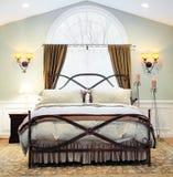 Dramatic Bedroom Interior Stock Photography