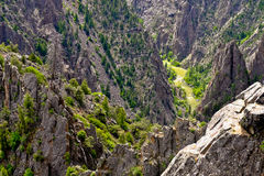 The Dramatic Black Canyon of the Gunnison River, Tomichi Point. Royalty Free Stock Image