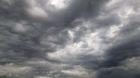 Dramatic black cloud before rainy Stock Image